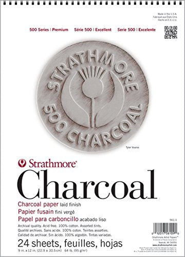 Strathmore STR-560-3 24 Sheet White Charcoal Pad, 18 by 24""