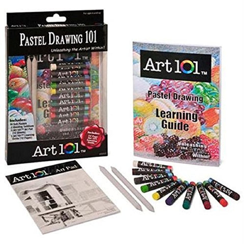 Pastel Drawing Set : Soft Pastels +Tortillions +Art Pad + Learning Guide