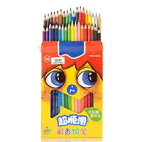 Marco 36 Color Pencil Non-toxic Wooden Premium Soft Core Colored Drawing Sketch Set 1550-36CB for