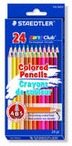 Staedtler Colored Pencils, 24 Colors, Pre-Sharpened (144ND24)