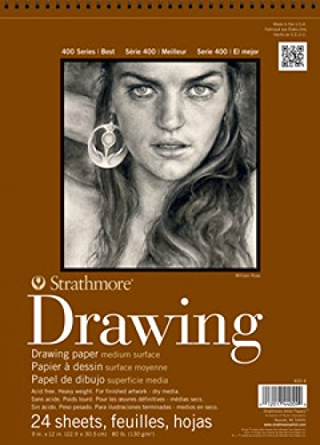 Strathmore STR-400-5 24 Sheet No.80 Drawing Pad, 11 by 14""