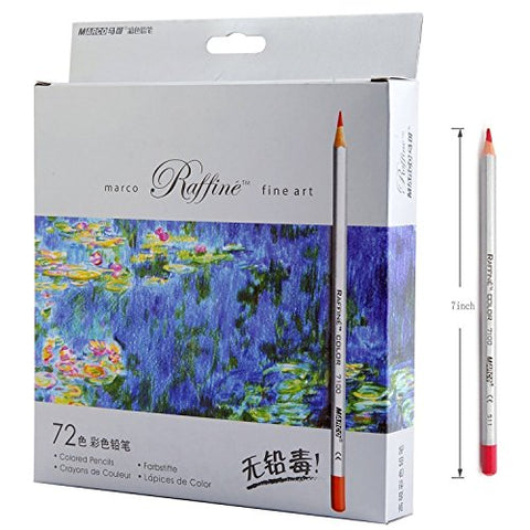 Lanxivi 72 Marco Colored Pencils with Pen Pouch Set/Color Professional Art Drawing Pencils for