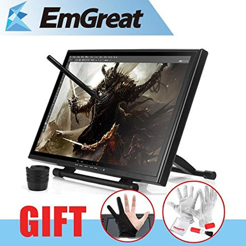 "UGEE UG-1910B Professional 19"" 5MS LCD Art Graphic Tablet Drawing Digitalizer Board + Glove Gift"