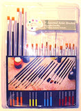 US Art Supply 15 Piece Multi-Purpose Brush Set