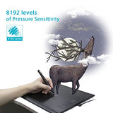 Huion New 1060 Plus Graphic Drawing Tablet with 8192 Pen Pressure 12 Express Keys and Built-in