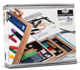 Royal & Langnickel 124-Piece Sketching and Drawing Easel Artist Set