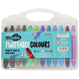 Mont Marte Studio Twistable Colors, 25 Piece. Includes 24 Water Blendable Painting Sticks and a