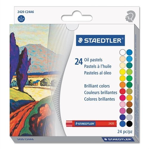 Staedtler Karat Studio Quality Oil Pastels Set of 24 Color-Intensive Colors in Heavy-Duty Cardboard
