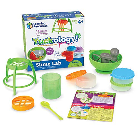 Learning Resources Yuckology Slime Science Set, Early Science Skills, DIY Slime, STEM Skills, Measurement, Color Mixing, Easter Basket Toy, Ages 4+