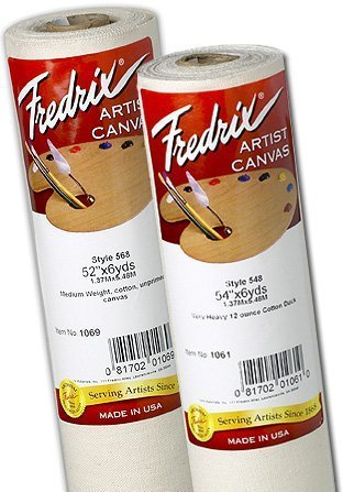 Fredrix Unprimed Canvas, 12 Ounce, Style 548, 84 Inch by 6 Yard Roll