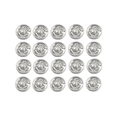 uxcell Metal Coat Clothes Sewing Invisible Clip Buttons 20 Pcs