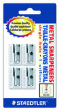 Staedtler Handheld Pencil Sharpeners, Graphite, 4 pieces