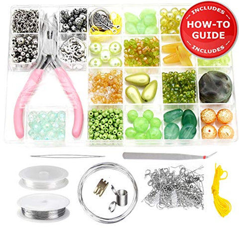 Modda Jewelry Making Kit - Beading Starter Kits, Includes All Needed Jewelry Making Supplies, Beads