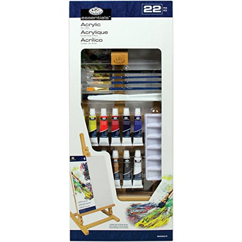 Easel Art Set Medium-Acrylic H Set 22pc
