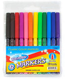 Bazic 12 Fine Line Washable Watercolor Markers