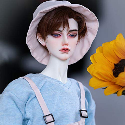 BJD Doll 1/3 Ball Mechanical Jointed Doll with Full Set of Clothes Coat Shoes Hair Socks Pants Accessories, Height 27.6In for Boy's and Girl Toy