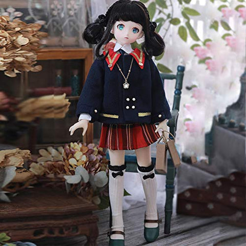 BJD 1/4 Doll 41cm College Style SD Doll Ball Jointed Doll DIY Toys with Clothes Outfit Shoes Wig Hair Makeup, Best Gift for Boys Girls