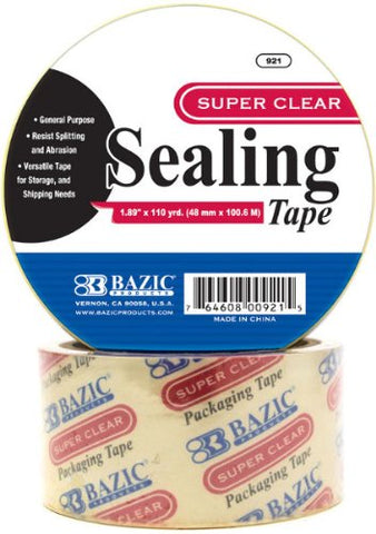 "Bazic 1.89"" x 110 Yards Clear Packing Tape 36 pcs SKU# 311646MA"