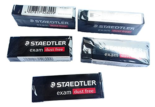 Staedtler Large Exam Dust Free Pencil Eraser (526 E20) Pack of 5 Erasers