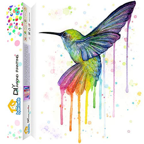 Dylan's Cabin DIY 5D Diamond Painting Kits for Adults,Full Drill Embroidery Paint with Diamond for Home Wall Decor(hummingbird/12x16 inch)