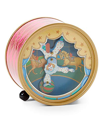 Dancing Animated Clown on Ball Music Box playing Love Makes the World Go Round
