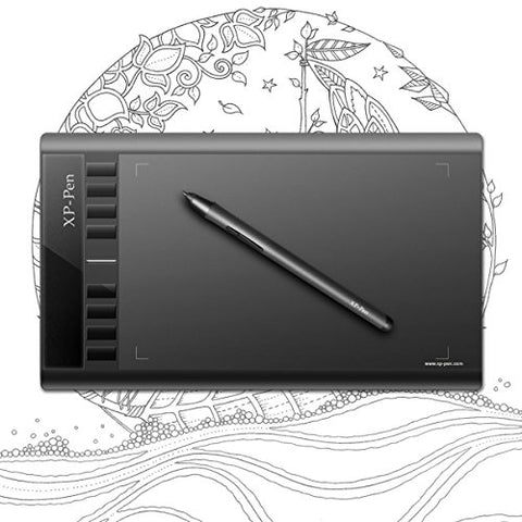 XP-PEN Star03 Graphics Drawing Tablet w/Battery-free Stylus Drawing Pen and Signature Board with