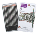 Derwent Academy Sketching Pencils, 12 Degrees of Hardness Metal Tin, 12 Count (2301946)