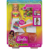 Barbie Crayola Rainbow Fruit Surprise Pineapple-Scented Blonde Doll and Fashions, Creative Art Toy, Gift for 5 Year Olds and Up