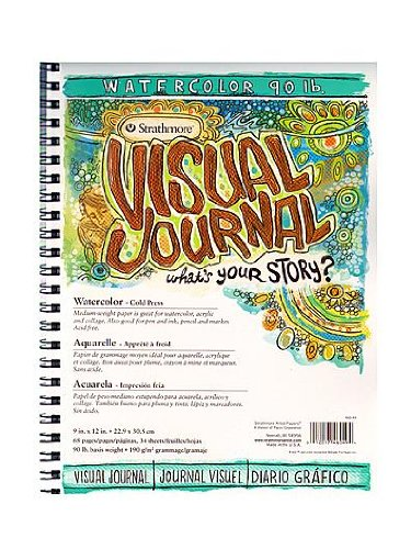 Strathmore Visual Watercolor Journals 90 lb. 9 in. x 12 in. 34 sheets [PACK OF 2 ]