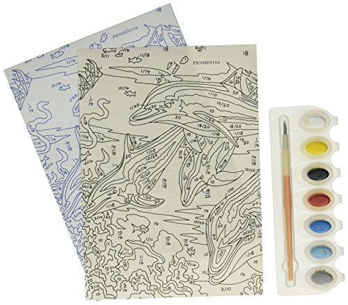 Royal & Langnickel Junior Mini Paint By Number Kit: 5x7 Dolphins/Junior