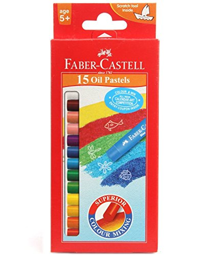 Faber-castell OIL Pastels Set of 15 (1 Pack) by Faber-Castell