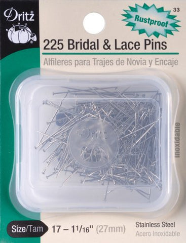 Bridal & Lace Pins-Size 17 225/Pkg