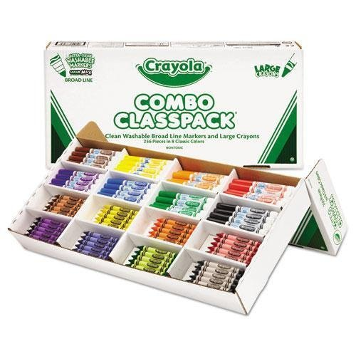 CYO523348 - Crayola Large Size Crayons and Washable Marker Classpack