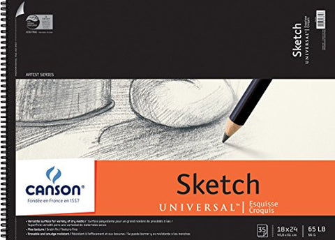 "Canson Universal Sketch Paper Pad 18x24"": 35 Sheets"