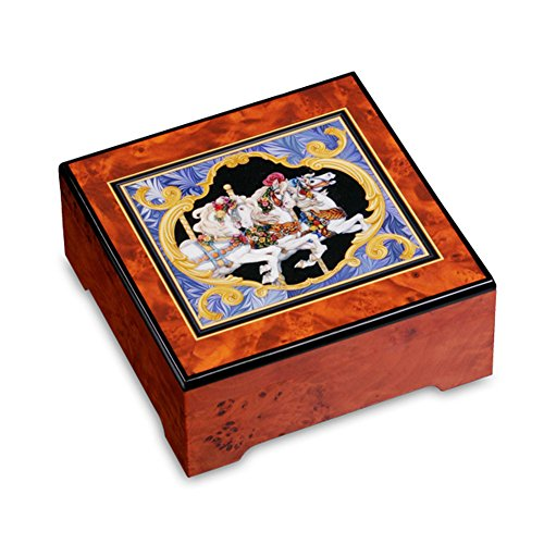 The San Francisco Music Box Company Encore! Carousel Horse Jewelry Box by