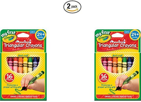 Crayola My First Crayola Triangular Crayons 16ct (2 pack)