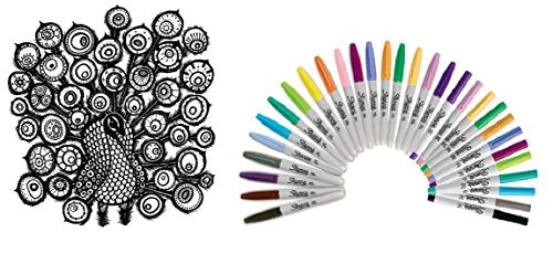 Sharpie 36 Pieces Limited Edition - (18 Fine Point Permanent Markers ✺ 12 Ultra-Fine Point