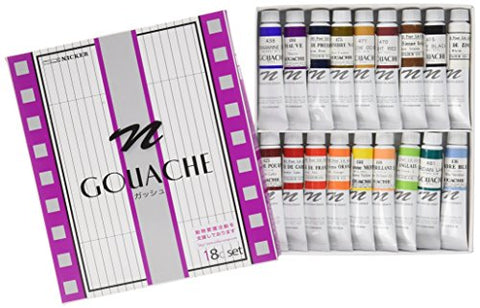 Knicker gouache 18 colors set 11ml 19018 (japan import)