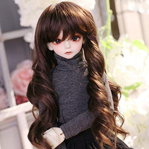 "MZBZYU 1/4 BJD Doll 40cm / 15.74"" Full Set Ball Jointed SD Dolls Toy 100% Fashion Handmade Doll with Clothes Outfit Shoes Wig Hair Makeup,Best Gift for Girls"