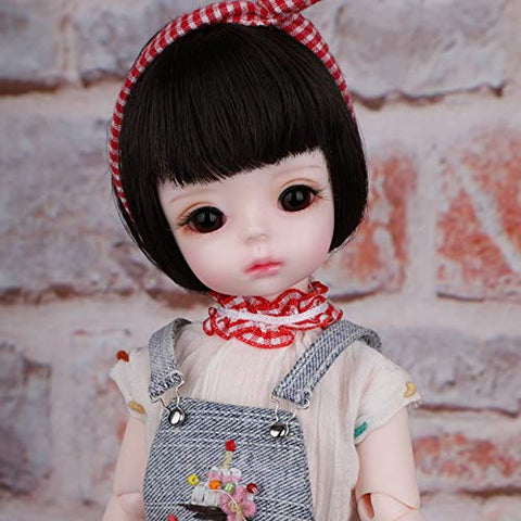 MEESock Cute Mini BJD Doll 1/6 SD Dolls Full Set 10Inch Ball Jointed Doll DIY Toys with Clothes Shoes Wig Makeup Best Gift for Girls