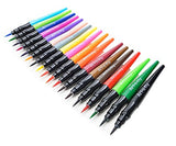 18 Brush Pens Set For Drawing Watercolor Pens Calligraphy Marker Set for Lettering Manga