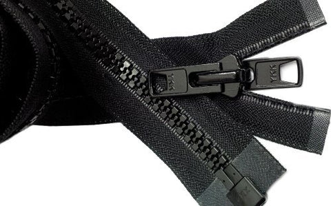 "Zipperstop Wholesale YKK® Bimini Top #10 Black Marine Double Pull Zipper 36"" ~ YKK Zipper"