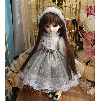 HMANE BJD Doll Clothes 1/6, Princess Dress Printed Clothes Set for 1/6 BJD Dolls (No Doll)