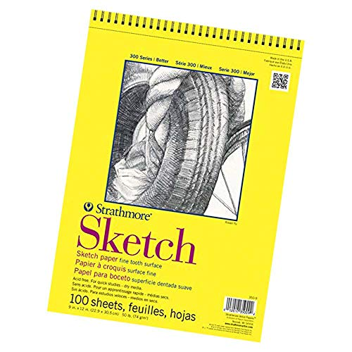 Strathmore 300 Series Sketch Pad, 11x14, Wire Bound, 100 Sheets (Limited Edition)