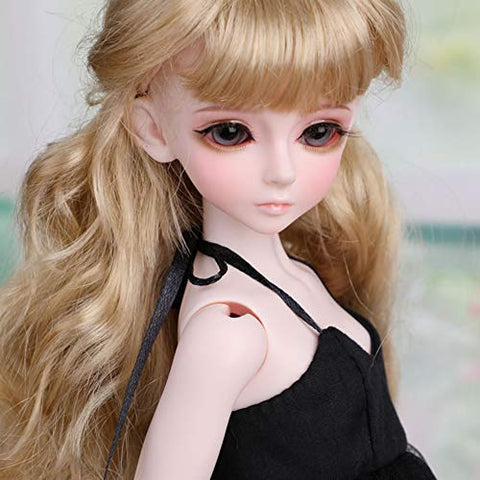 3D Eyes BJD Doll Deluxe Collector Doll 1/4 Scale Ball Jointed Doll Articulated BJD Fully Poseable Fashion Doll,B