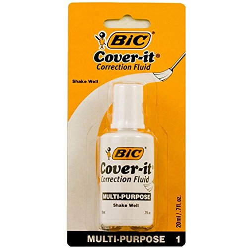 1 X BIC 20ml / 0.7 fl. oz. Wite-Out Cover It Correction Fluid