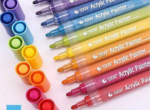 Acrylic Paint Pen for Ceramic Painting - Permanent Medium Point Art Acrylic Marker Pens for Rock