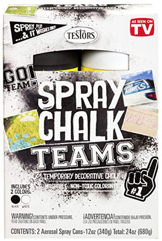 Testors 334331 Spray Chalks Teams, Black/White