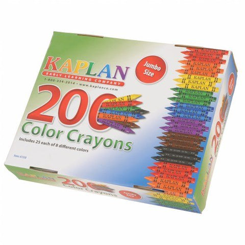 Kaplan Early Learning Company Jumbo Crayons Class Pack (200 Per Box)