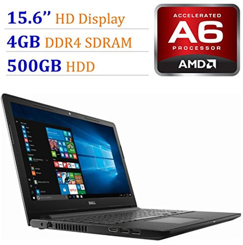 2018 Newest Premium Dell Inspiron 15.6-inch HD Display Laptop PC, 7th Gen AMD A6-9220 2.5GHz
